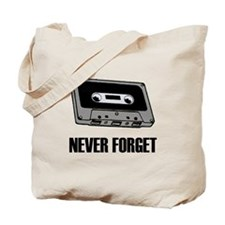 Never Forget Cassettes Tapes Tote Bag