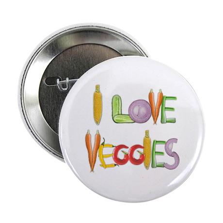 "I Love Veggies 2.25"" Button"