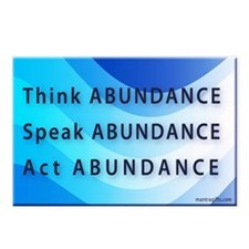 Think Abundance Postcards (Package of 8)