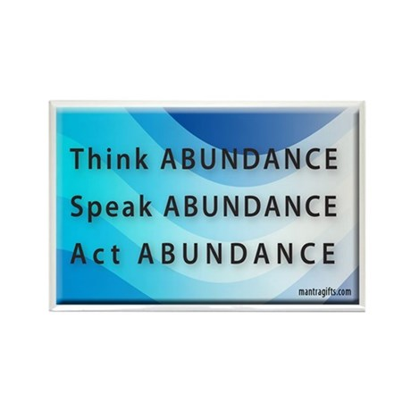Think Abundance Rectangle Magnet