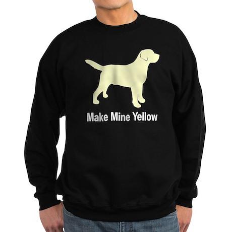 Make Mine Yellow Lab Sweatshirt (dark)