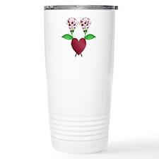 Beautiful Polka Dot Roses Travel Mug