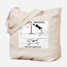 Cute Border collie agility Tote Bag