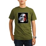 Obama Stars and Stripes Organic Men's T-Shirt (dar
