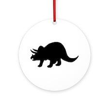 Dinosaur - Triceratops Ornament (Round)