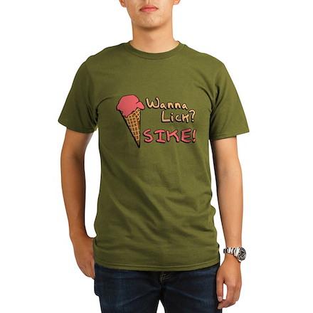Wanna Lick? Organic Mens Dark T-Shirt