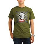 Obama Poster Organic Men's T-Shirt (dark)
