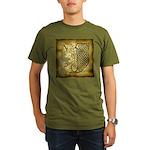Celtic Letter J Organic Men's T-Shirt (dark)