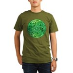 Celtic Triskele Organic Men's T-Shirt (dark)