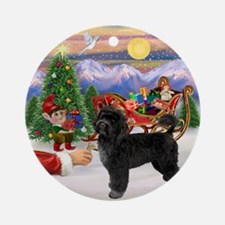 Santa's Treat for his PWD Ornament (Round)