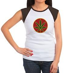 Rasta Leaf Women's Cap Sleeve T-Shirt