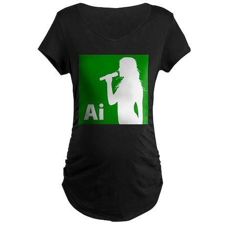 American Idol Girl Maternity Dark T-Shirt