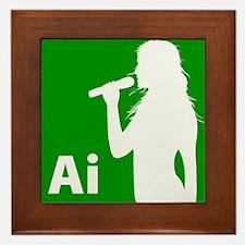 American Idol Girl Framed Tile