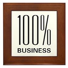 100 Percent Business Framed Tile
