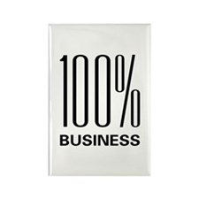 100 Percent Business Rectangle Magnet