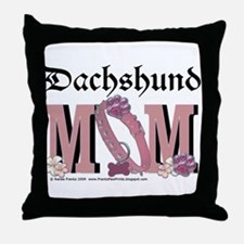 Dachshund MOM Throw Pillow