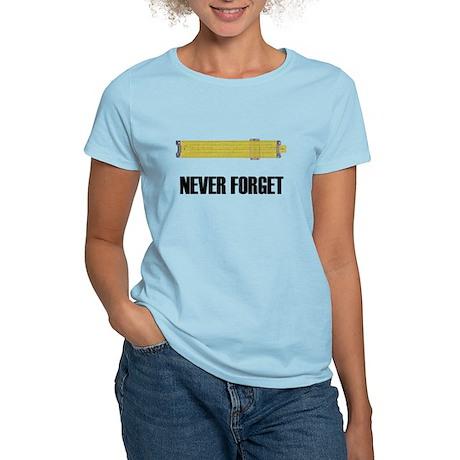 Never Forget Slide Rules 2 Women's Light T-Shirt