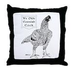 Ye Olde Cornish Cock Throw Pillow