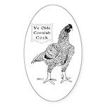 Ye Olde Cornish Cock Oval Sticker (10 pk)