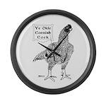 Ye Olde Cornish Cock Large Wall Clock