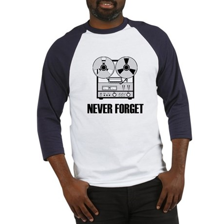 Never Forget Reel-to-Reel Baseball Jersey