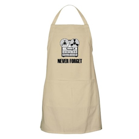 Never Forget Reel-to-Reel BBQ Apron