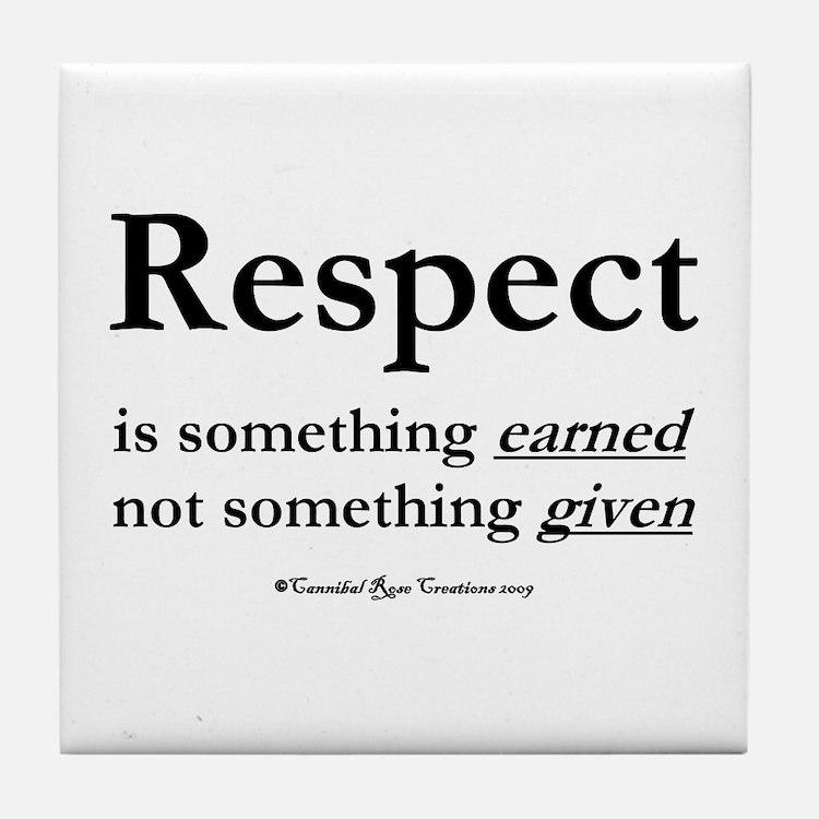Respect Tile Coaster