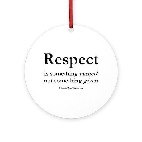 Respect Ornament (Round)