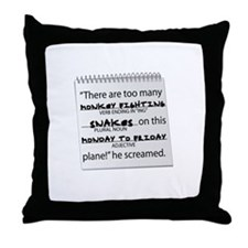 Funny Snakes on a plane Throw Pillow