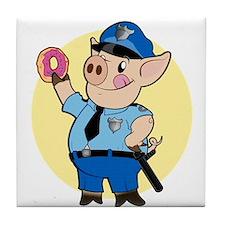 Cop Chops Tile Coaster