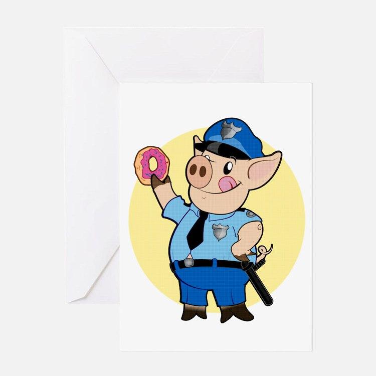 Cop Chops Greeting Card