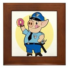 Cop Chops Framed Tile