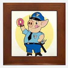 Cop Chops Framed Tile