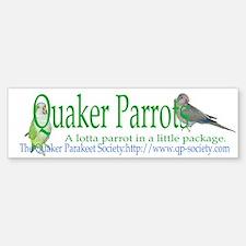Quaker Parrot Bumper Bumper Bumper Sticker