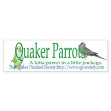 Quaker Parrot Bumper Bumper Sticker