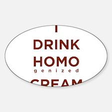 Homogenized Cream Oval Decal