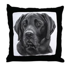 Diesel, Black Lab Throw Pillow