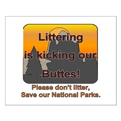 Littering kicks Buttes Posters