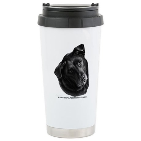 Corvis, Black Lab Mix Stainless Steel Travel Mug