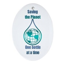 Save the Planet Oval Ornament