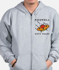 The 1947 Roswell UFO incident Zip Hoodie