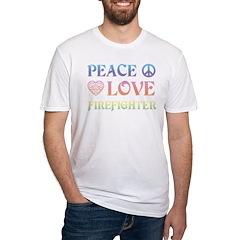 Peace Love Firefighter Shirt