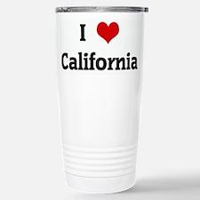 I Love California Travel Mug