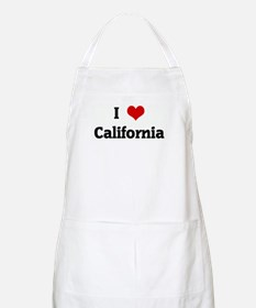 I Love California BBQ Apron