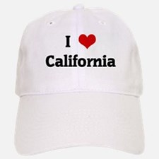 I Love California Baseball Baseball Cap
