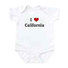 I Love California Infant Bodysuit