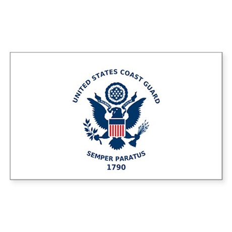 U.S. Coast Guard Flag Rectangle Sticker