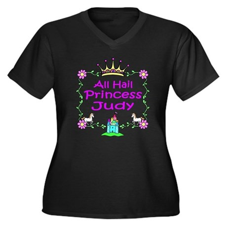 -All Hail Princess Judy Women's Plus Size V-Neck D