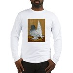Indian Fantail Pigeon Long Sleeve T-Shirt