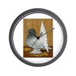 Indian Fantail Pigeon Wall Clock